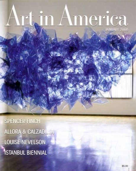 Art In America Cover - 1/1/2008