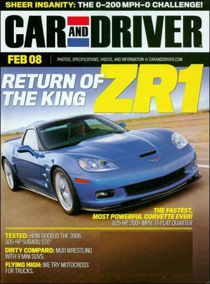Car And Driver Cover - 2/1/2008