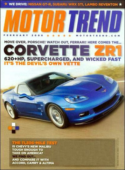 Motor Trend Cover - 2/1/2008