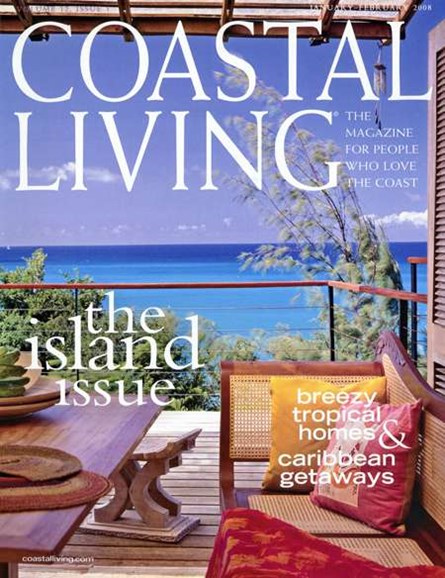 Coastal Living Cover - 1/1/2008