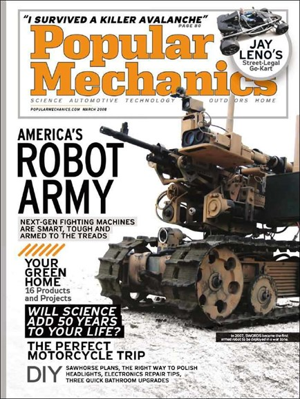 Popular Mechanics Cover - 3/1/2008