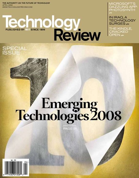 MIT Technology Review Cover - 4/1/2008