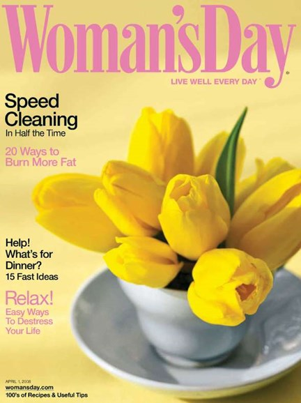 Woman's Day Cover - 4/1/2008