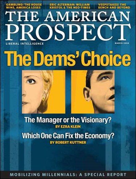 The American Prospect Cover - 3/1/2008