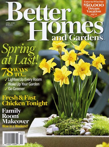 Better Homes & Gardens Cover - 4/1/2008