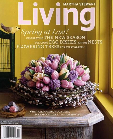 Martha Stewart Living Cover - 4/1/2008