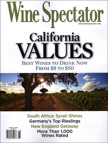 Wine Spectator Cover - 4/30/2008