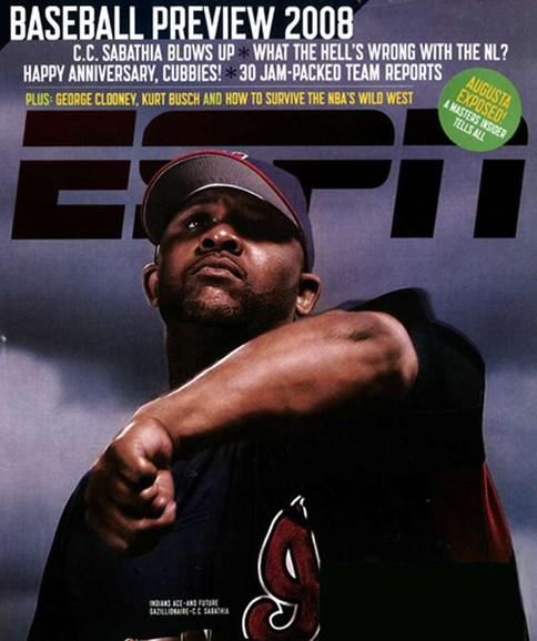 ESPN The Magazine Cover - 3/1/2008