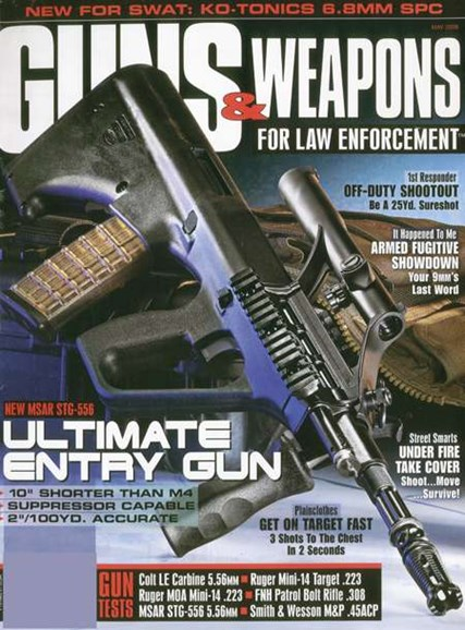 Guns & Weapons For Law Enforcement Cover - 4/1/2008