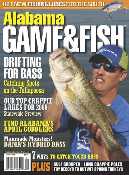 Alabama Game & Fish Cover - 4/1/2008