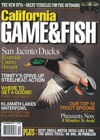 California Game & Fish Cover - 12/1/2007