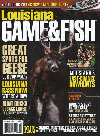 Louisiana Game & Fish Cover - 1/1/2008
