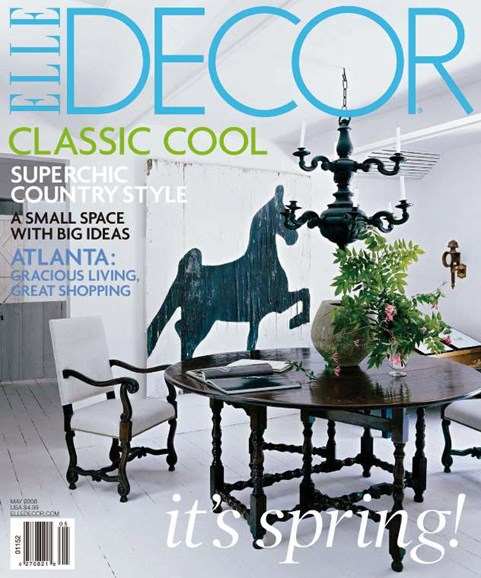 ELLE DECOR Cover - 5/1/2008