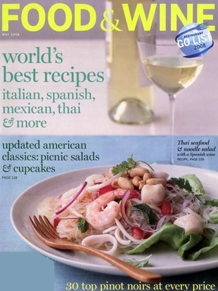 Food & Wine Cover - 5/1/2008