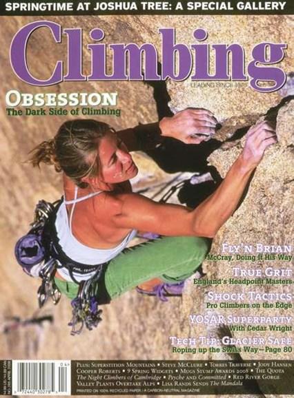 Climbing Magazine Cover - 4/1/2008