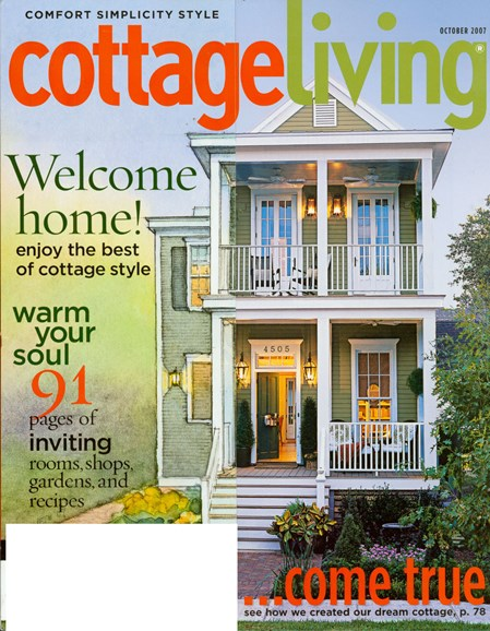 Cottage Living Cover - 10/1/2007