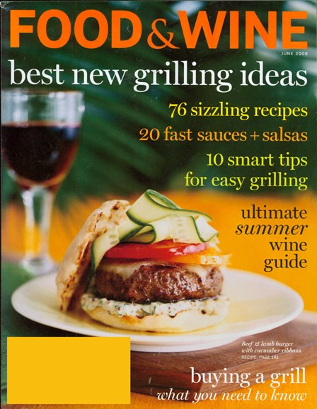 Food & Wine Cover - 8/1/2008
