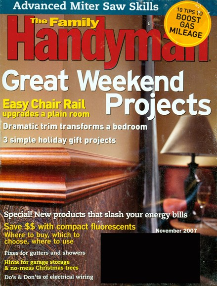 The Family Handyman Cover - 11/1/2007