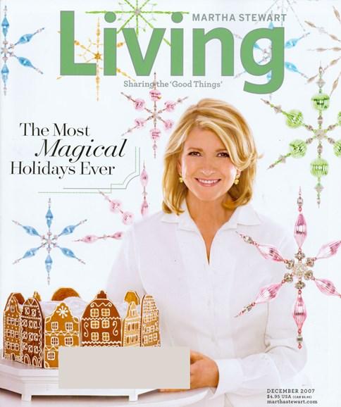 Martha Stewart Living Cover - 12/1/2007