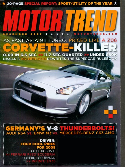 Motor Trend Cover - 12/1/2007