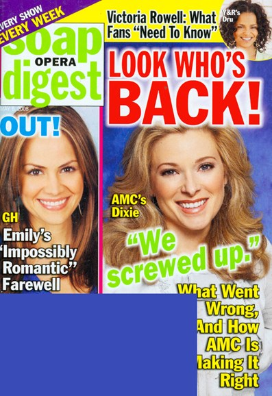 Soap Opera Digest Cover - 5/1/2008