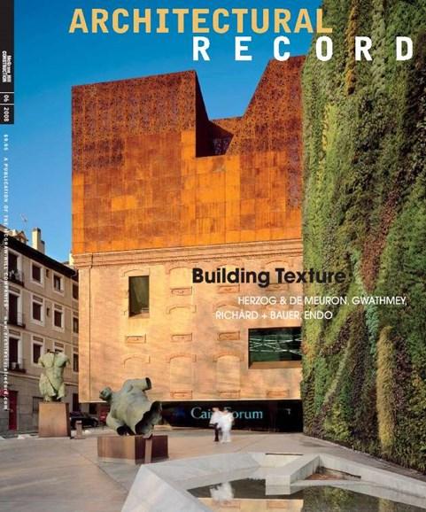 Architectural Record Cover - 7/1/2008