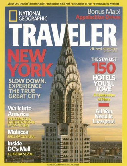 National Geographic Traveler Cover - 4/1/2008