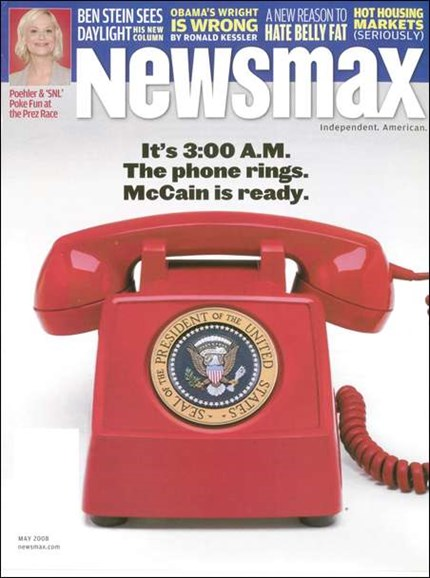 Newsmax Magazine Cover - 5/1/2008
