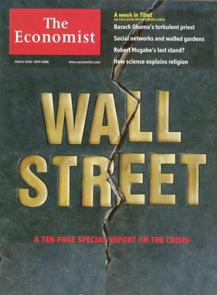The Economist Cover - 3/22/2008