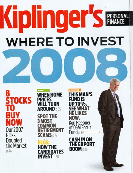 Kiplinger's Personal Finance Cover - 1/1/2008