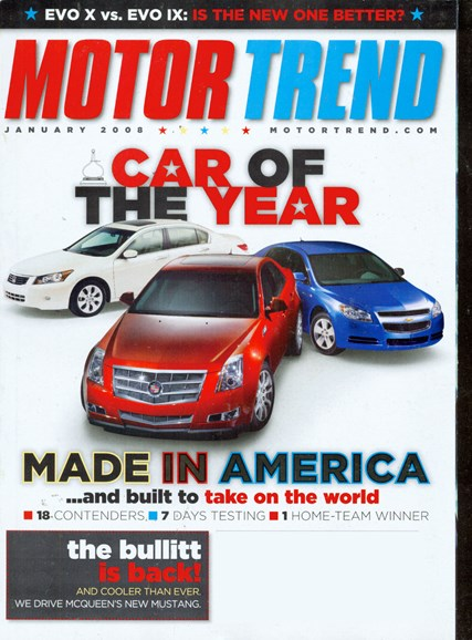 Motor Trend Cover - 1/1/2008