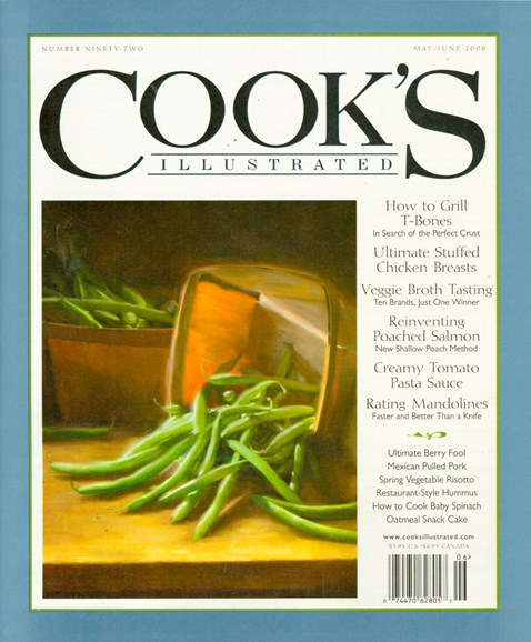 Cook's Illustrated Cover - 4/1/2008