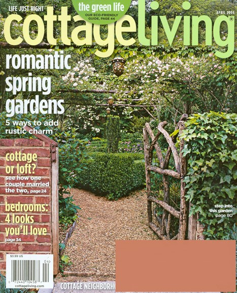 Cottage Living Cover - 4/1/2008
