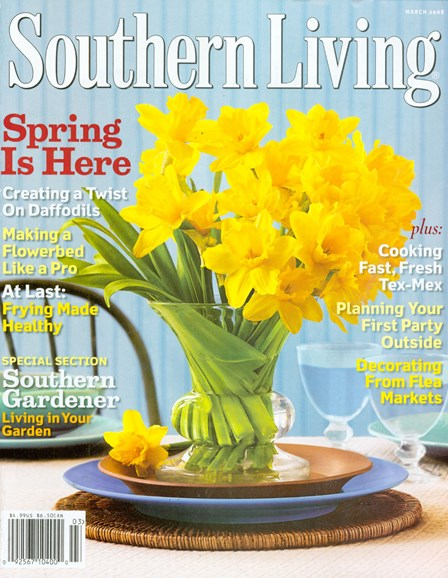 Southern Living Cover - 3/1/2008