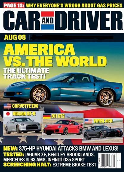Car And Driver Cover - 8/1/2008