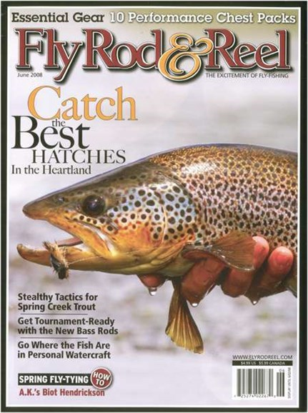 Fly Rod & Reel Magazine Cover - 6/1/2008