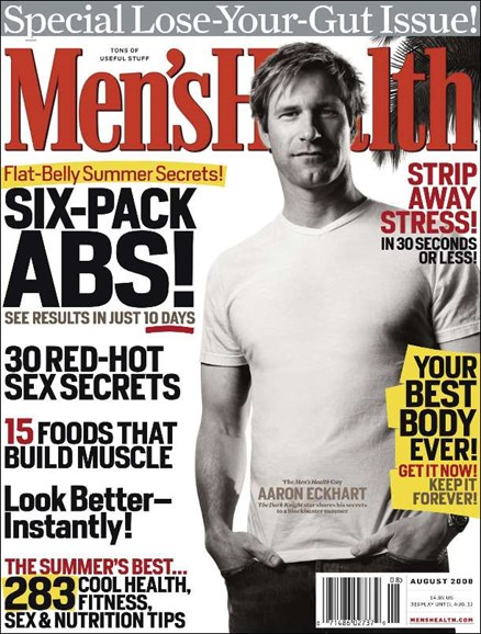 Men's Health Cover - 8/1/2008