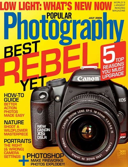 Popular Photography Cover - 7/1/2008
