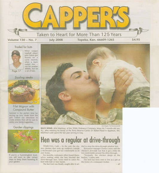 Capper's Cover - 7/1/2008