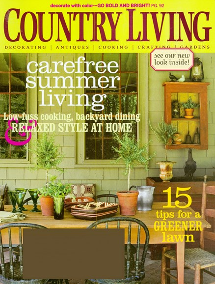 Country Living Cover - 6/1/2008