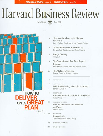Harvard Business Review Cover - 6/1/2008