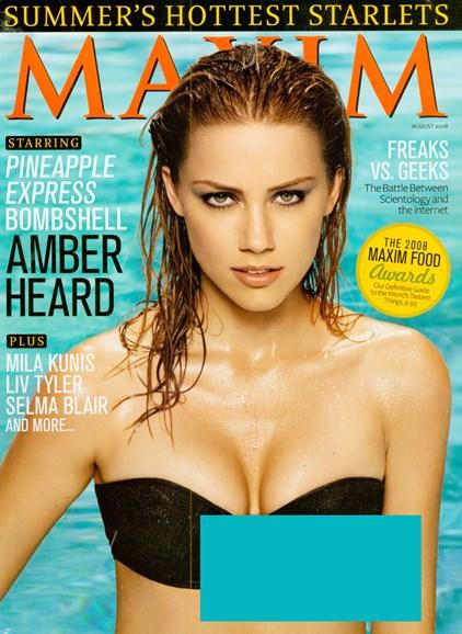Maxim Cover - 8/1/2008