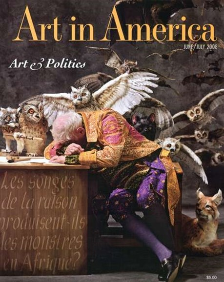 Art In America Cover - 6/1/2008
