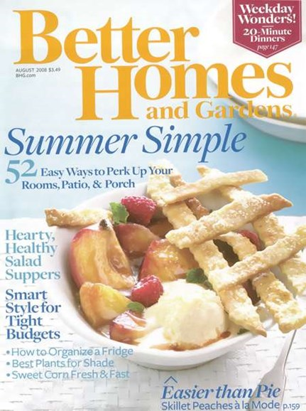 Better Homes & Gardens Cover - 8/1/2008