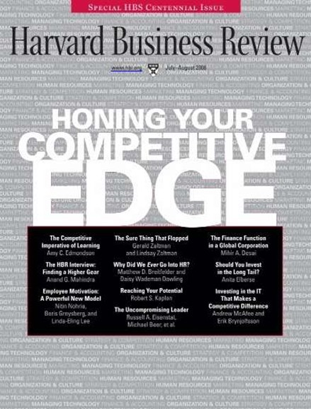 Harvard Business Review Cover - 7/1/2008