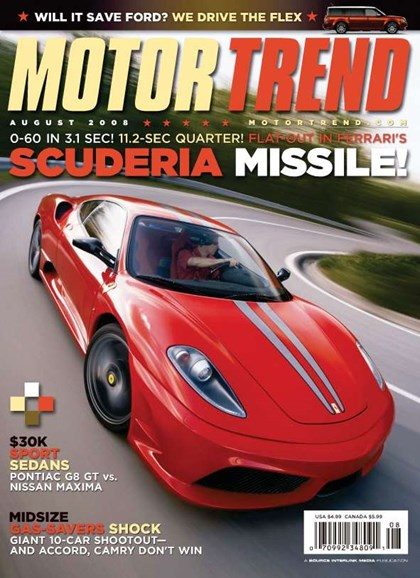 Motor Trend Cover - 8/1/2008