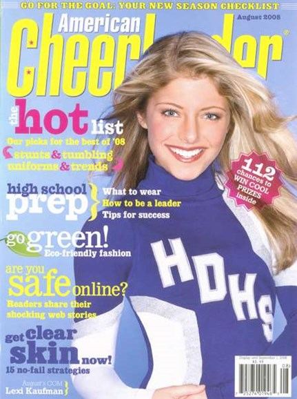 American Cheerleader Cover - 8/1/2008
