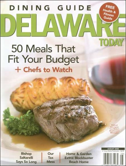 Delaware Today Cover - 8/1/2008