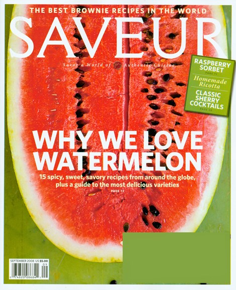 Saveur Cover - 9/1/2008