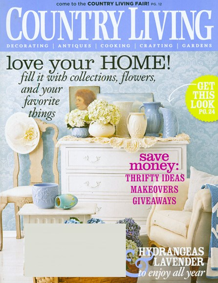 Country Living Cover - 8/1/2008